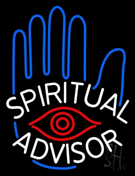 White Spiritual Advisor Neon Flex Sign
