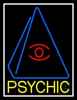 Yellow Psychic Eye Pyramid Neon Sign