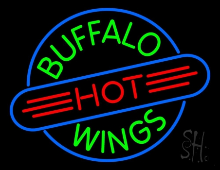 Buffalo Hot Wings Neon Sign