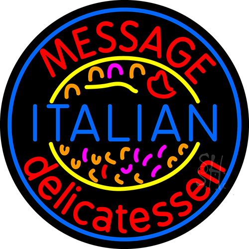 Custom Italian Delicatessen Neon Sign