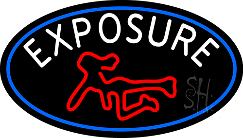 Exposure Full Girl Logo Neon Sign