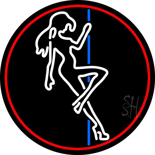 Pole Dance Girl Strip Club Neon Sign