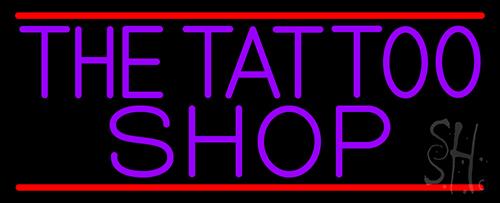 Purple The Tattoo Shop Neon Sign