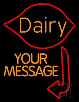 Custom Dairy With Arrow Neon Sign
