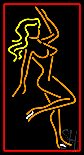 Strip Girl Pose Neon Sign
