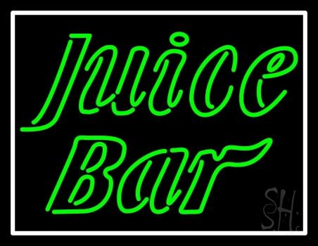 Green Juice Bar Neon Sign