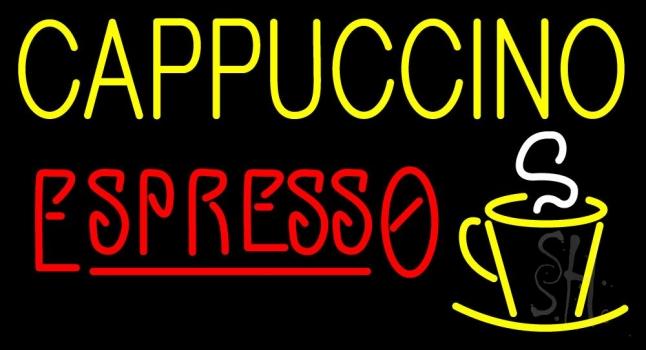 Double Stroke Cappuccino Espresso Neon Sign