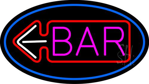 Bar With Arrow Neon Sign