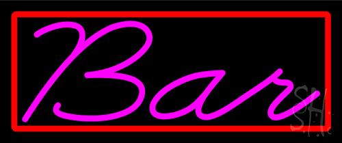 Cursive Bar Neon Sign