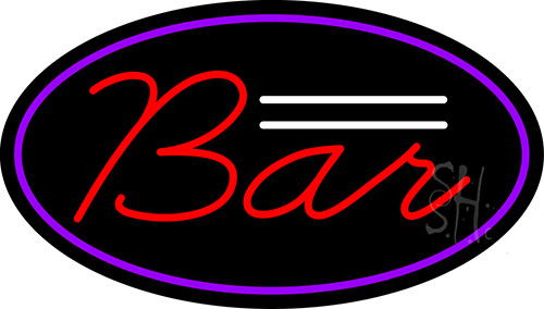 Cursive Bar Neon Sign