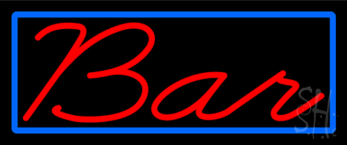 Cursive Red Bar Neon Sign