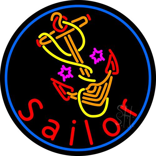 Custom Sailor Logo 1 Neon Sign