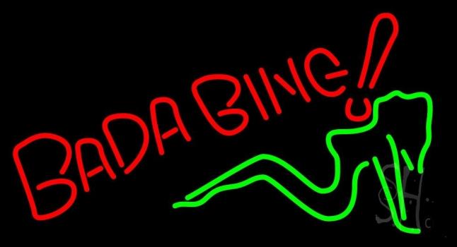 Bada Bing Girl Neon Sign