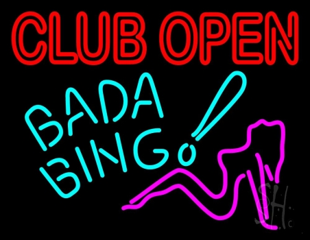 Club Open Bada Bing Neon Sign