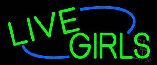 Green Live Girls Neon Sign