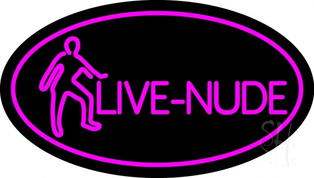 Pink Live Nudes With Girl Neon Sign