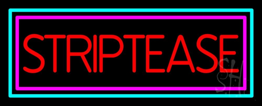 Striptease Neon Sign