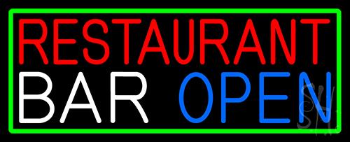 Restaurant Bar Open Neon Sign