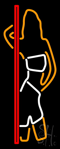 Strip Girl Neon Sign