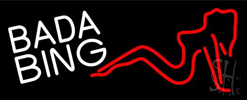 White Bada Bing Girl Neon Sign