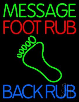 Custom Foot Rub Neon Sign