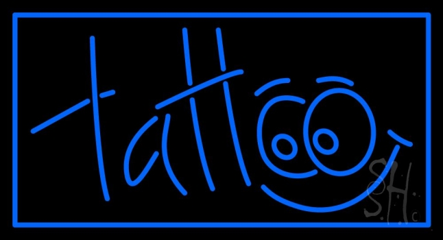 Blue Tattoo Neon Sign