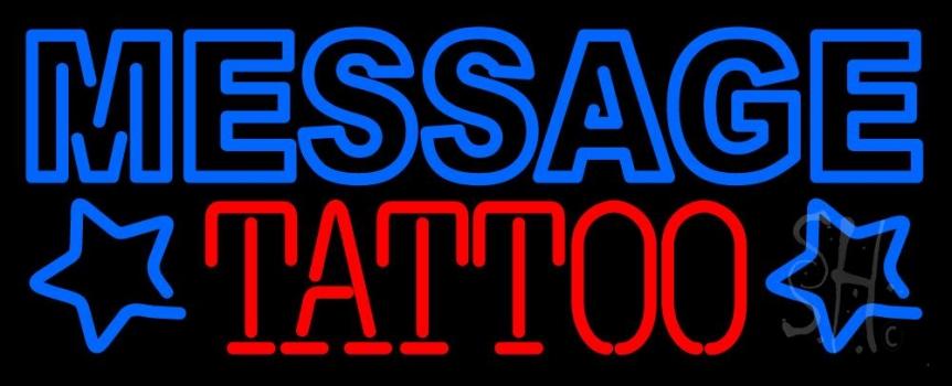 Custom Tattoo Design Neon Sign