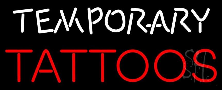Temporary Tattoos Neon Sign
