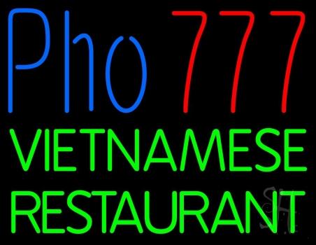 Pho 777 Vietnamese Restaurant Neon Sign