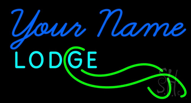Custom Block Lodge Neon Sign
