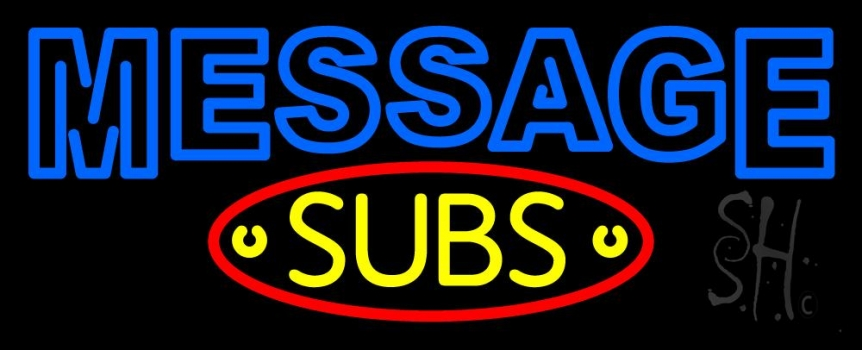 Custom Subs Neon Sign