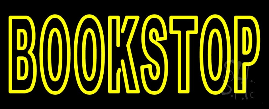 Book Stop Neon Sign