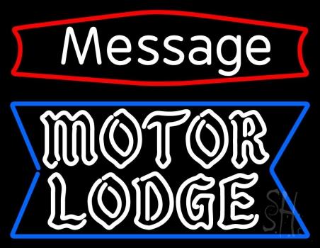 Custom Personalized Motor Lodge Neon Sign