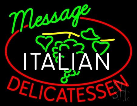 Custom Italian Delicatessen Neon Sign