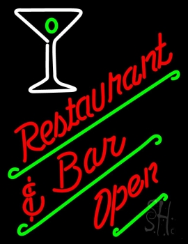 Restaurant Bar Open Neon Sign