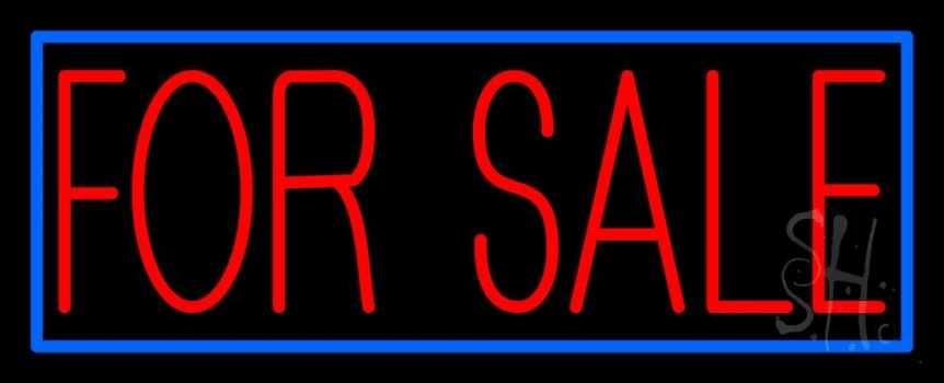 Neon Signs For Sale >> Red For Sale Blue Border Neon Sign Real Estate For Sale Neon Signs