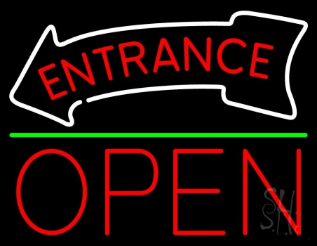 Entrance Open Neon Sign