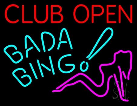 Club Open Bada Bing Neon Sign