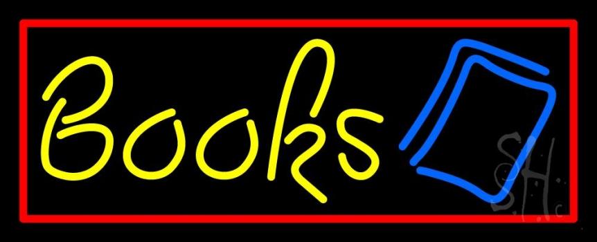Yellow Books Neon Sign