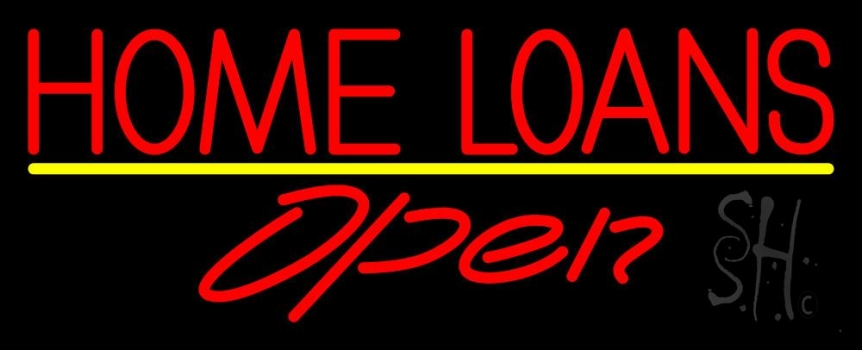 Home Loans Open Neon Sign Home Loans Neon Signs Every Thing Neon