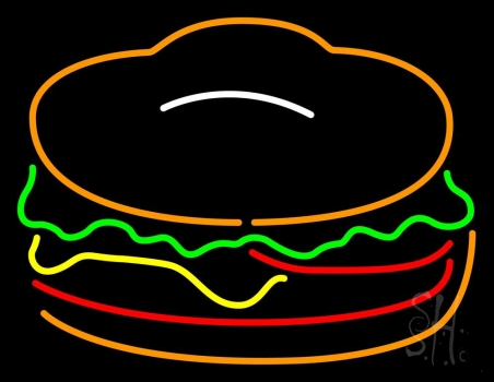 Red Green Burger Logo Neon Sign