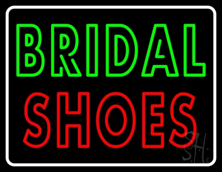 Double Stroke Bridal Shoes Neon Sign