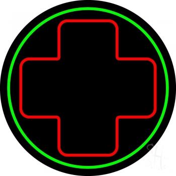 Hospital Plus Logo 2 Neon Sign