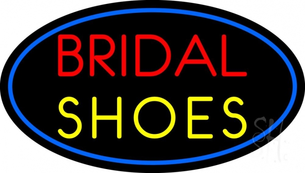 Oval Bridal Shoes Neon Sign