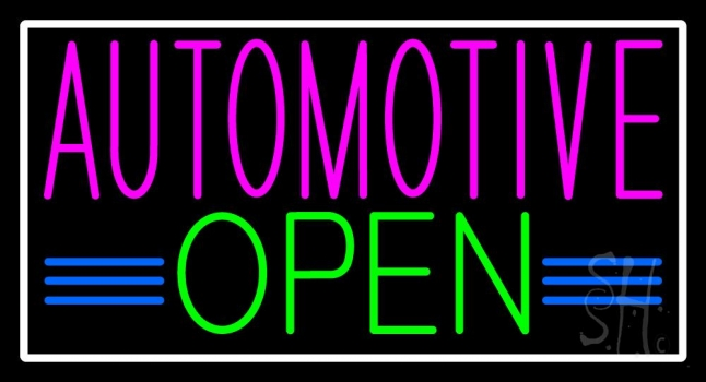 Automotive Open Neon Sign