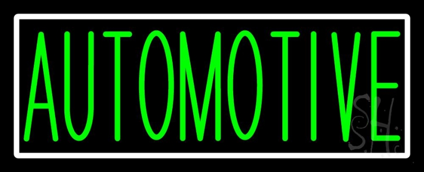 Green Automotive Neon Sign