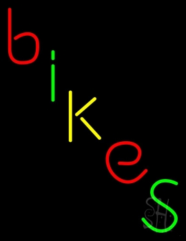 Multicolored Bikes Neon Sign