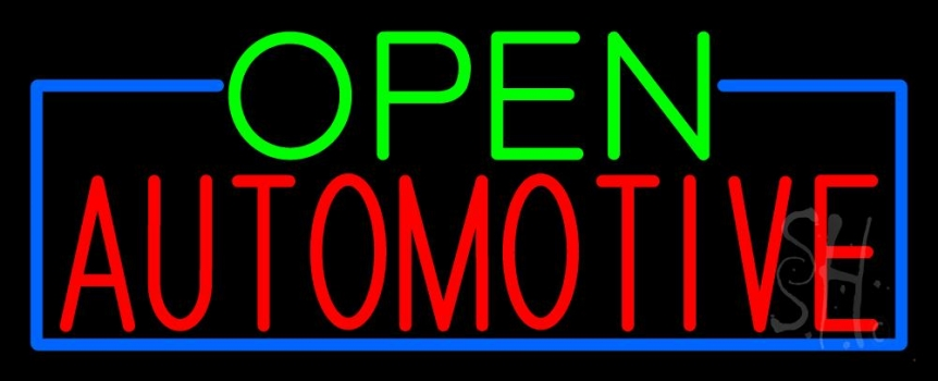 Open Automotive Neon Sign