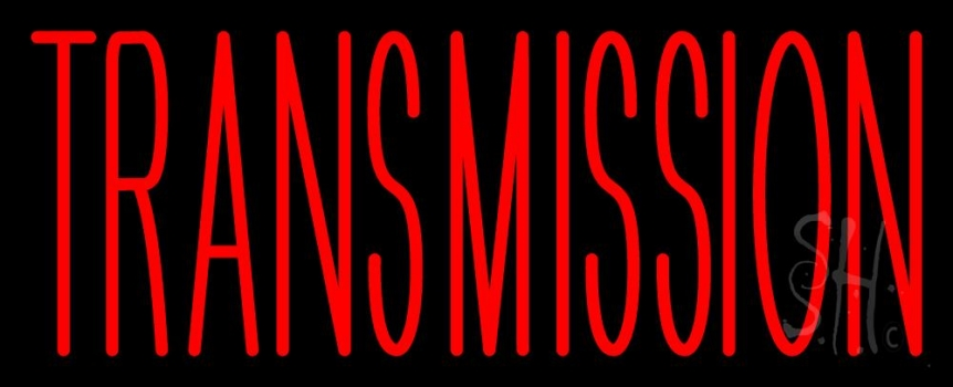 Red Transmission Neon Sign