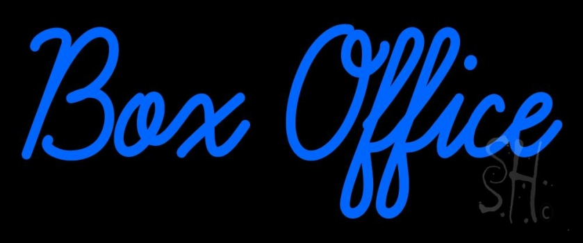 Blue Box Office Neon Sign